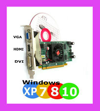 DELL Windows 10 Dual Monitor Video Card.HDMI DVI VGA. 512MB PCI-E 16 2.0 Hi-Prof