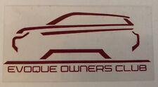 Vivre les propriétaires de club (Coe) Autocollants-non adhésif range rover font des décalques