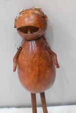 African Gourd Shaker Rattle Cowrie Shell Kenya Figure Rattle