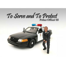 POLICE OFFICER III FIGURE FOR 1:18 SCALE MODELS BY AMERICAN DIORAMA 24013