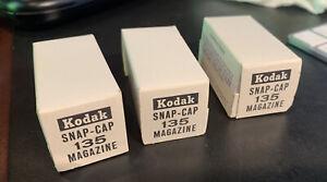 3 (three) Kodak Snap-Cap 135 Reloadable Magazine Unopened - NIB Vintage Sealed