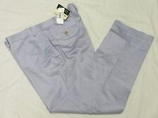 $95 NWT Mens Ralph Lauren Solid Cotton Flat Front Dress Pants Blue 40x30 40 M798