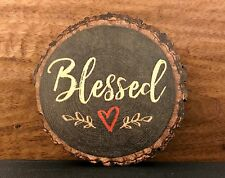"BLESSED (with heart) barky magnet 3"" P Graham Dunn"