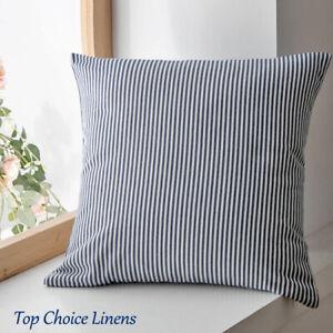 65*65cm Home Decor Classic Navy/White Thin Stripe Cushion Cover-European