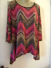 """WOMAN""""S BLOUSE TOP SIZE X L BY RUE JUJU  LONG 3/4 SLEEVE RAYON/SPAN"""