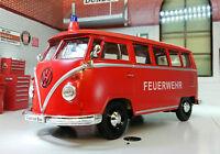 VW T1 Bus Fourgon D'incendie 1962 Welly Feuerwehr 1:24 LGB G
