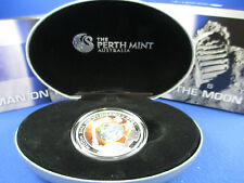 2009 1$ Cook Islands 1oz .999 Silver Proof Coin  - First Man on The Moon 1969 -