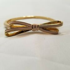 kate spade New York Women's Pink and Gold Tone Skinny Bow Bangle Bracelet