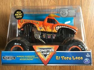 SPIN MASTER 2019 MONSTER JAM EL TORO LOCO TRUCK Orange 1:24 Scale