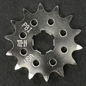 PBI - 722-14 -  Front Countershaft Sprocket, 14T - Made In USA