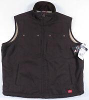 NWT Dickies Work Sherpa Lined Sanded Duck Full Zip Womens Vest Coat Jacket XL
