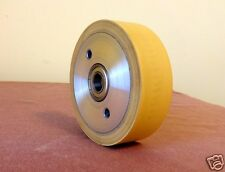 "Knife Making:3-3/4"" x 1-1/8"" Rubber Contact Wheel 1/2"" Bearings for Belt Sander"