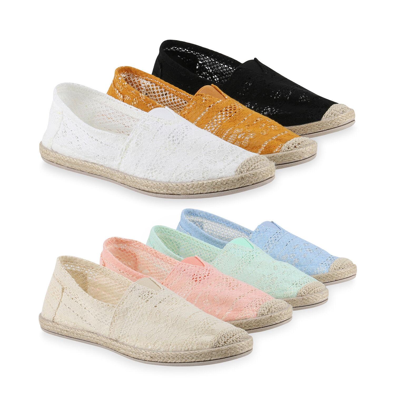 Damen zapatos Slipper Espadrilles Slip-Ons Spitze Bast Freizeit zapatos Damen  817641  zapatos ea2582