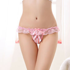 Women's Pearl G-string Lace Lingerie Panties Knickers Thongs T-back Underwear
