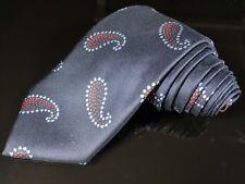 "New TURNBULL & ASSER Blue Paisley Hand Made 100% Silk Mens Luxury Tie - 3.5"""
