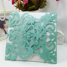 10PCS Wholesale 6inch Laser Cut Wedding Invitation Cards Party Evening Favor