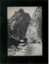 Vintage Mounted Photo - Pillars of Hercules near Cheyenne Canon, Colorado Spring