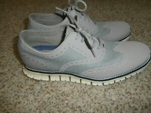 Cole Haan ZeroGrand Stitchlite Wingtip Knit Sneakers  C26252 Shoes Gray Men 10 M