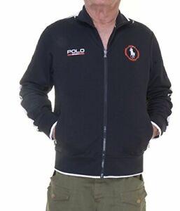 Polo Sport Cotton-Blend Track Jacket (Medium, Polo Black)