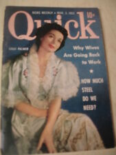 march 1952 QUICK News Weekly Magazine Lilli Palmar on cover + Fruit Drops Ad