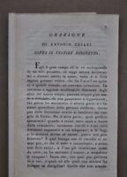 Orazione Antonio Cesari Il Vestire Disonesto Morale Religione Perbenismo 1818