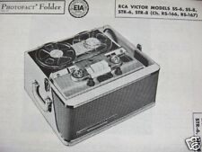 RCA SS-6, SS-8, STR-6, STR-8 TAPE RECORDER PHOTOFACT