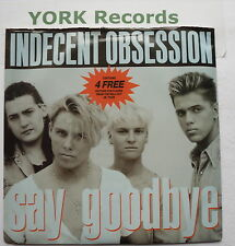 """INDECENT OBSESSION - Say Goodbye *WITH POSCARDS* - Ex Con 7"""" Single MCAB 1420"""