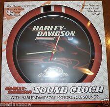 "New Genuine Harley Davidson 13"" Screamin' Eagle Sound Boxed Wall Clock Biker"