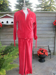 Roots Swim Red Velour Track Suit