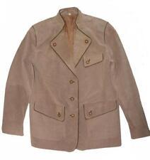 SCHNÄPPCHEN! Damen- Trachten- Lederjacke Jacke  Trachtenjacke khaki- grau Gr. 38