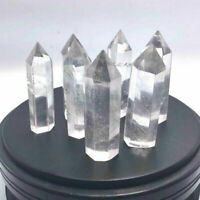 Rare Rock CLEAR QUARTZ CRYSTAL STONE 1PCS AAA DT WAND POINT Healing Gifts