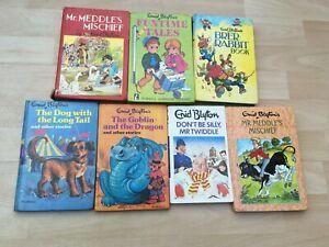7  Lovely Old Enid Blyton Children's Hardback Books