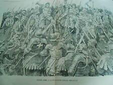 Jeanne d'Arc à la bataille de Coinces près Patay Print Art 1894