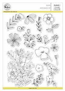 New! Pinkfresh Studio Fleur 1 Stamp Set Florals