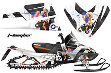 AMR Racing Arctic Cat M Series Snowmobile Graphic Kit Sled Wrap Decals TBOMB WHT