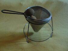 Vintage Jam Jelly Juicer Sieve Colander Strainer With Wood Pestle & Stand
