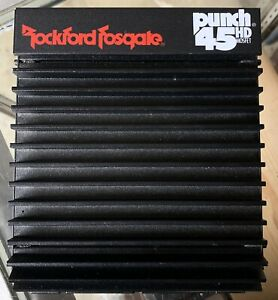 NEW Old School Rockford Fosgate Punch 45 2 channel amplifier,rare,USA,NOS