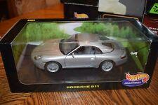 Hot Wheels 1998 Porsche 911 Carrera 1:18 Scale Diecast Model Car Gray Silver