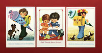 3 x DDR Glückwunsch AK Schulanfang 1978/80 Kinder mit Zuckertüten  ( 61482
