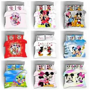 3D Mickey Minnie Bedding Set Duvet Covers Pillowcase Disney Quilt Cover Gift