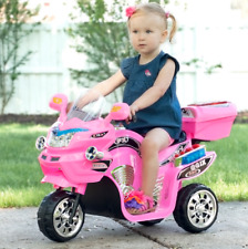Electric Cars For Kids Ride On Toys Riding Motorcycle Play Trike 6V Girls Pink