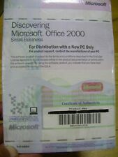 Microsoft Office 2000 - 2 CD - Small Business Edition with Word, Excel, etc