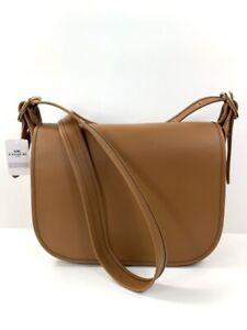 Coach Patricia Glove Calf Leather Saddle Bag Handbag Light Saddle NWT $398