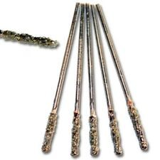 5pcs Set of  1 mm diameter GRIT 60 Diamond Coated HSS Twist Drill Bits For STONE