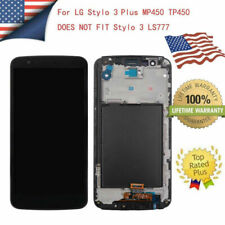 For LG Stylo 3 Plus MP450 TP450 LCD Touch Screen Replacement Digitizer Frame ZY