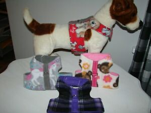 Size Small Dog & Cat Harness, Fleece Vest Style more sizes in my E-Bay Store