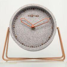 Nextime Horloge de Table Cross 17,5x15,5cm Silencieux Pierre Métal Salle Séjour