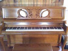 Upright Baldwin Piano - Hamilton Limited Edition - Queen Anne Oak - Woodwork