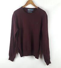 Polo Ralph Lauren Merino Wool Crewneck Sweater Classic Wine Color Large L