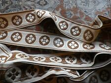 Vintage French Embroidered Braid Heavy Trim Edging in Metre Lengths